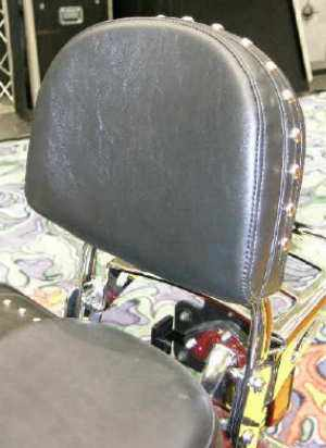 Large Studded Backrest and Pad. (Square Sissy Bar)  / Backrest Mounting hardware is required.