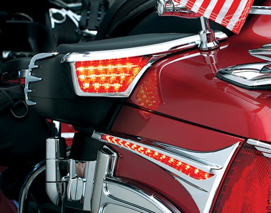 & Trunk Accent Swoops with LED Lights Honda GL1800 Gold Wing 06+ azcodes.com