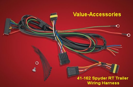 41162 new product, trailer wiring harness, spyder rt Trailer Hitch Wiring Diagram at virtualis.co