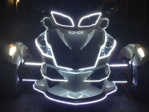 A Arm Daytime Running Led S Dual Color Can Am Spyder