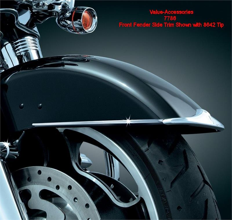 Harley Touring Fenders : Front fender side trim harley touring models