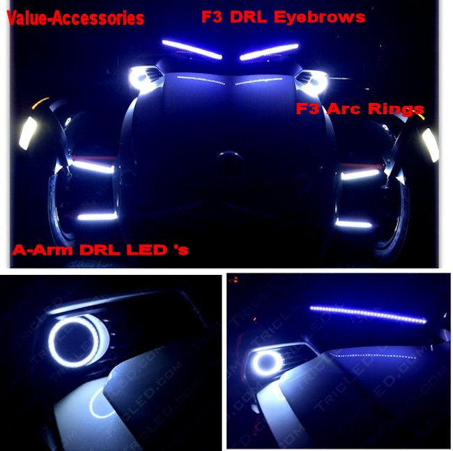 Drl Front Led Eyebrow Can Am Spyder F3 Pr