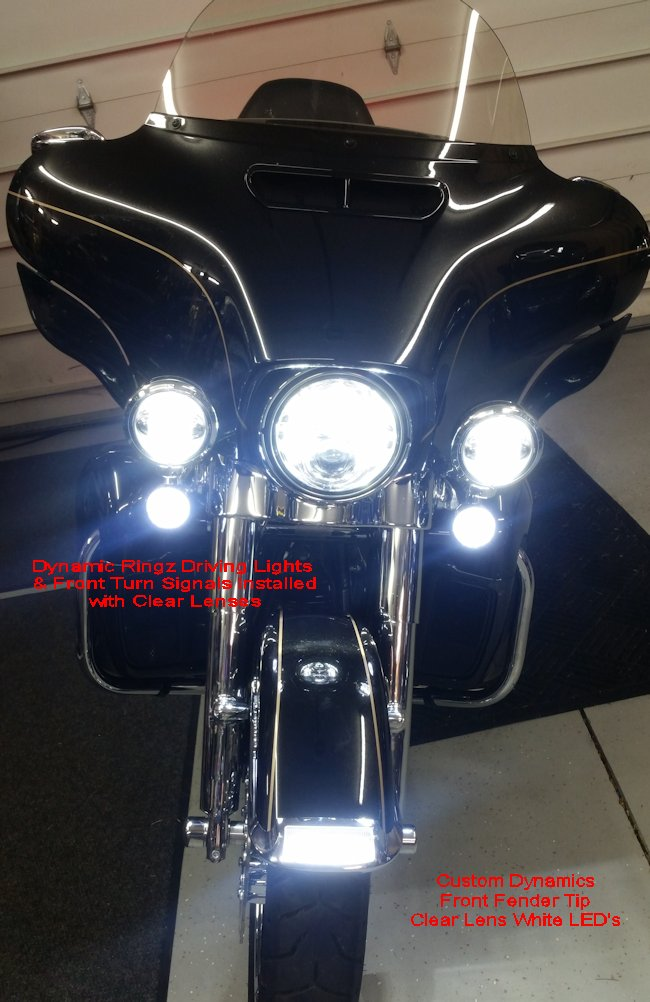 Dynamic Ringz Driving Lights Amp Front Turn Signals Harley Pr