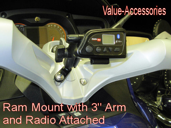 Can Am Spyder Rt St Rs Or F3 Ram Mount Kit With 1 Quot Ball