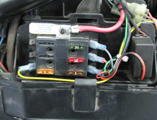 Shown Below The 6 Position Fuse Block Installed On One Of Our Own Bikes In Original Tool Box: Honda Shadow Fuse Box Cover At Eklablog.co