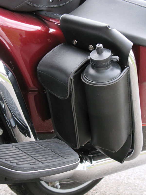 Leather Harley Touring Beverage Holder