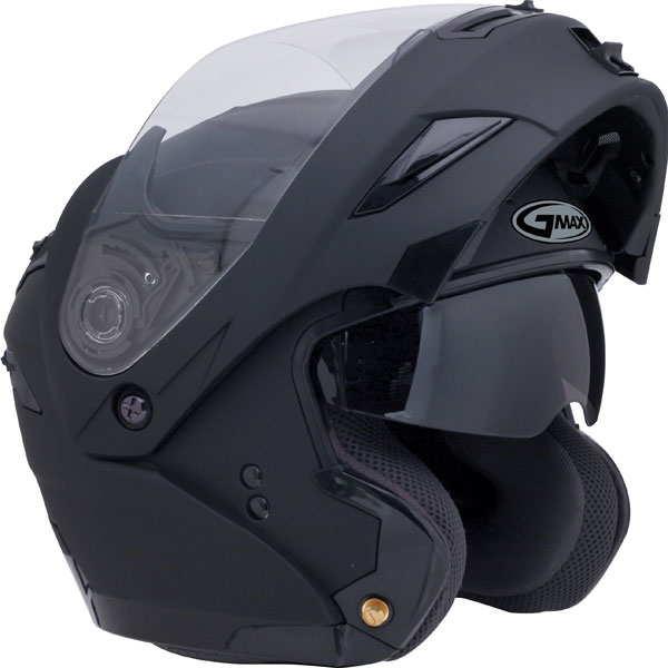 GMAX GM54S Modular Flip Up Helmet w/Inner Visor (Flat Black)