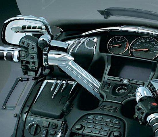 Chrome Handlebar Top Covers Honda Gl 1800 Gold Wing 01 17