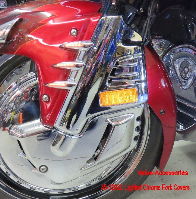 Baosity Chrome Front Fork Cover for Honda GL1800 Goldwing 2001-2010