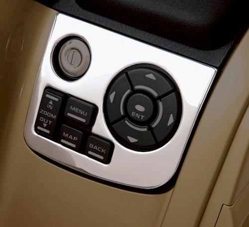 Shiwaki ABS Plastic Motor Radio Accent Dash Panel Silver for Honda Goldwing GL1800 01-11