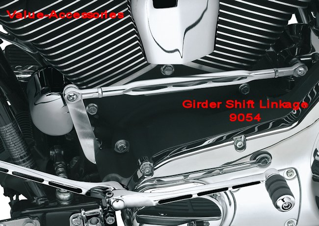Chrome Krator Flame Style Shift Linkage Arm Cover for 1982-2016 Harley Davidson Touring Motorcycles