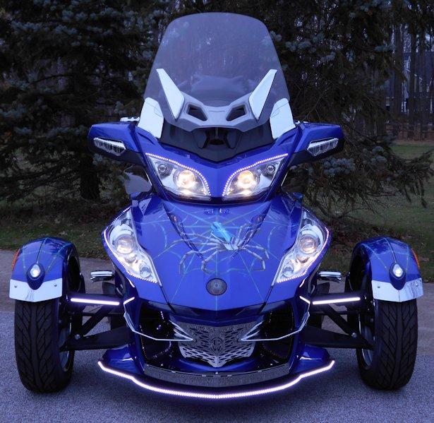 Spyder Motorcycle Price >> Vader Front LED Lighting, Can Am Spyder RT 10-19
