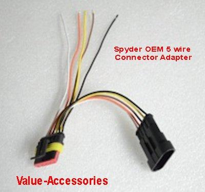 spyder motorcycle oem style electrical 2 5 pin socket connector rh store valueaccessories net Mopar Wiring Connectors Bike Wiring Connectors