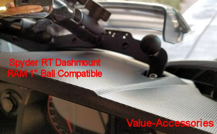Spyder Rt Ram 1 Quot Ball Compatible Dash Mount Black Powder