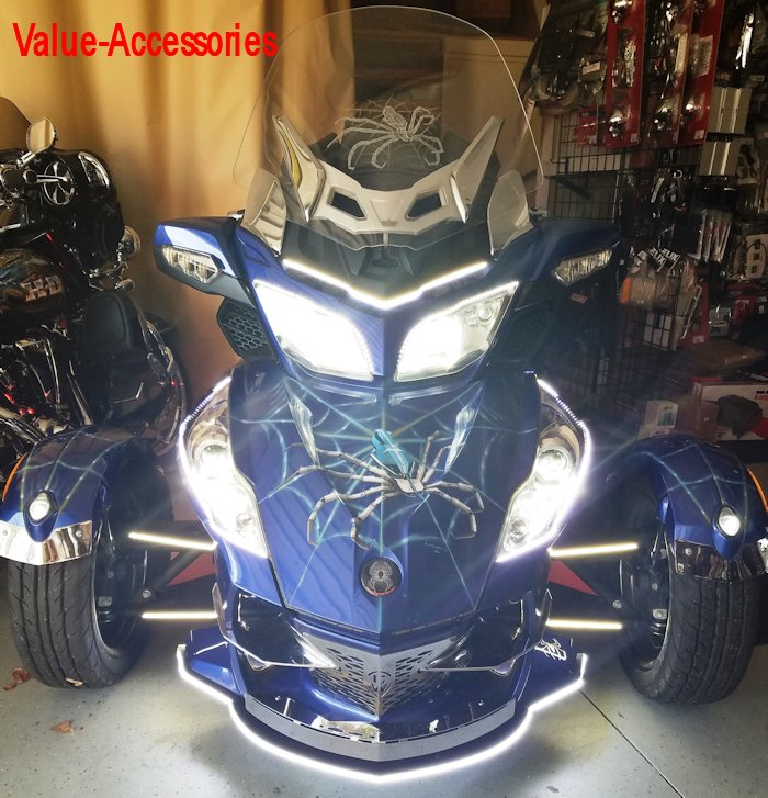 LED Headlights or Foglight Bulbs, Can Am Spyder RT (pr)