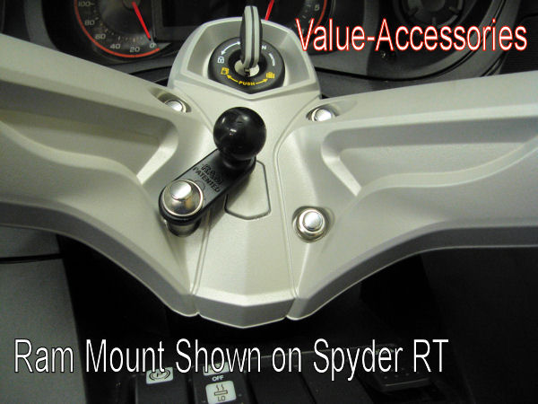 Can-Am Spyder RT, ST, RS or F3 RAM Mount Kit, with 1