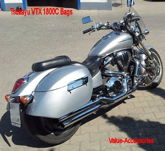 Tsukayu Honda VTX (Painted or Primer) Fiberglass Hard Bags