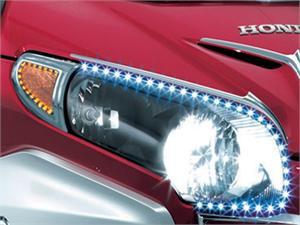 Headlight Outer Trim W Led S Honda Gl 1800 Gold Wing 06