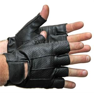 0f2c7258e55662 Perforated Fingerless Leather Gloves
